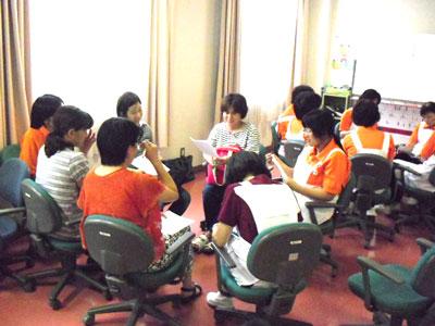 グループワークの研修風景